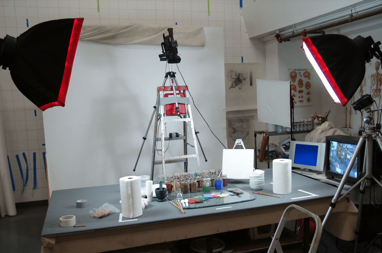Fresco video filming setup
