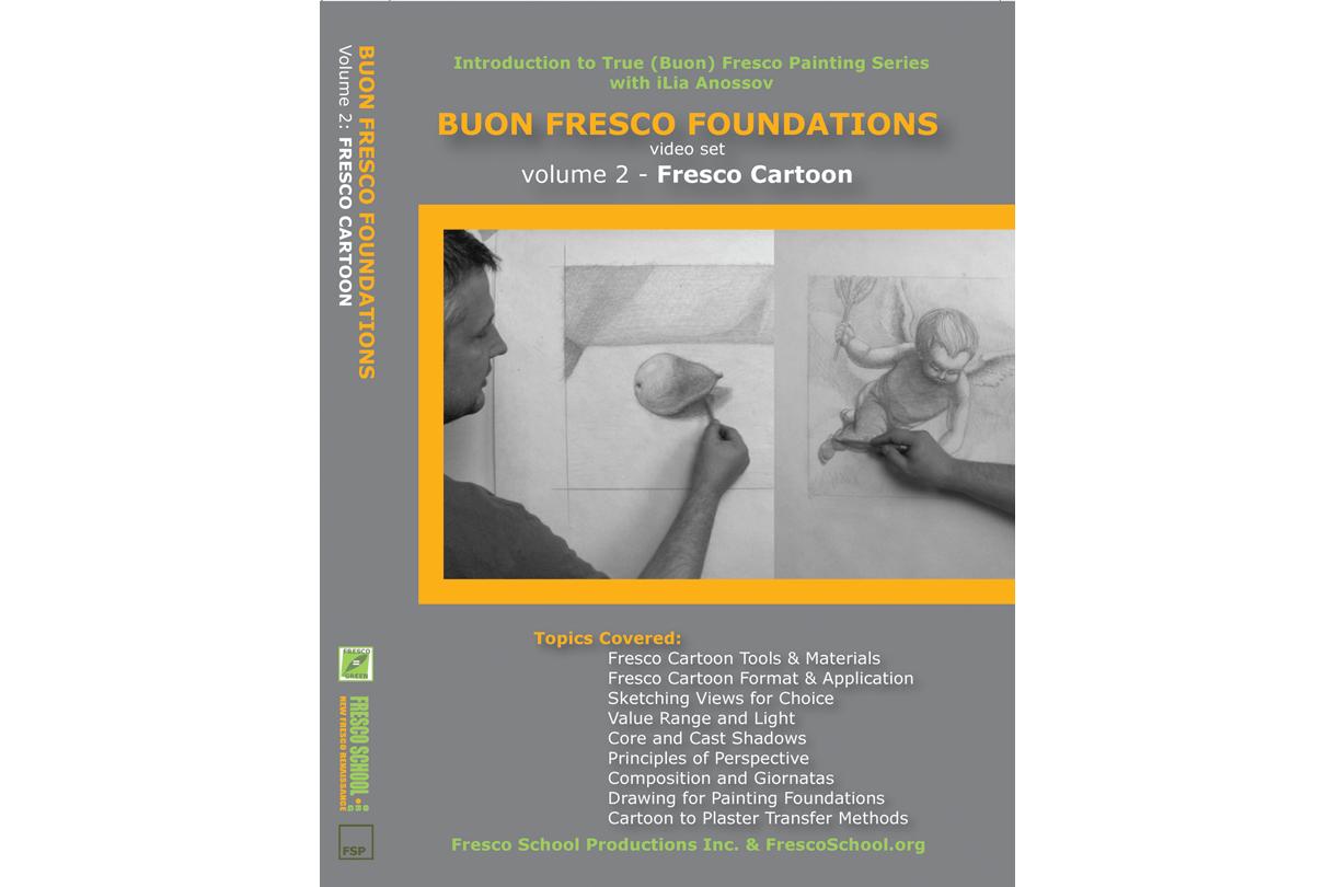 Fresco painting cartoon video tutorial by iLia Fresco (Anossov) ISBN 978-0-9822689-2-6