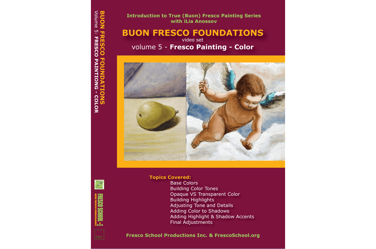 Fresco painting color video tutorial by iLia Fresco (Anossov) ISBN 978-0-9822689-5-7