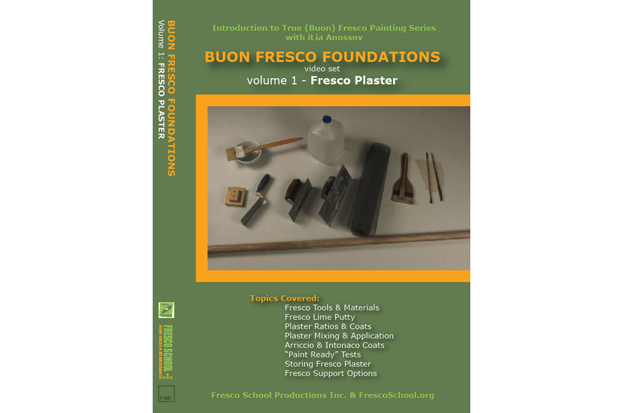Fresco painting plaster video tutorial by iLia Fresco (Anossov) ISBN 978-0-9822689-0-2